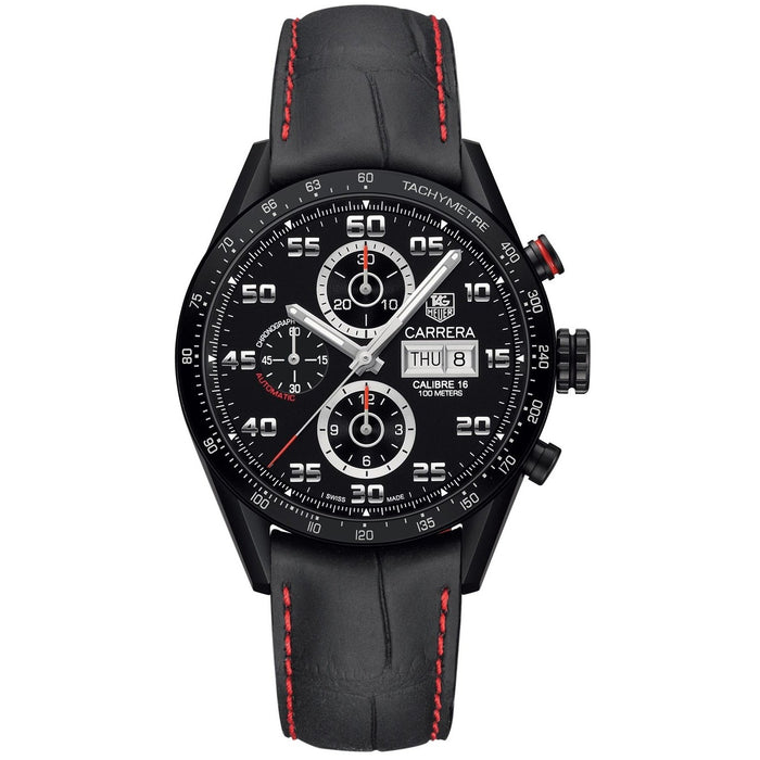 Tag Heuer Men's CV2A10.FC6237 Carrera Limited Edition Chronograph Automatic Black Leather Watch