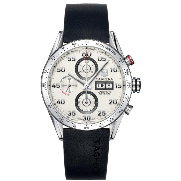Tag Heuer Men's CV2A11.FT6005 Carrera Chronograph Automatic Black Rubber Watch