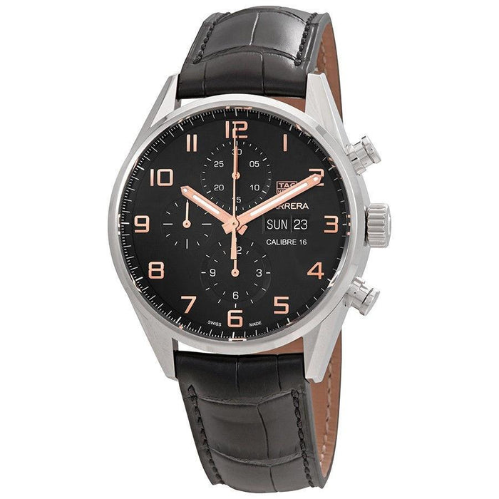 Tag Heuer Men's CV2A1AB.FC6379 Carrera Limited Edition Chronograph Automatic Black Alligator leather Watch
