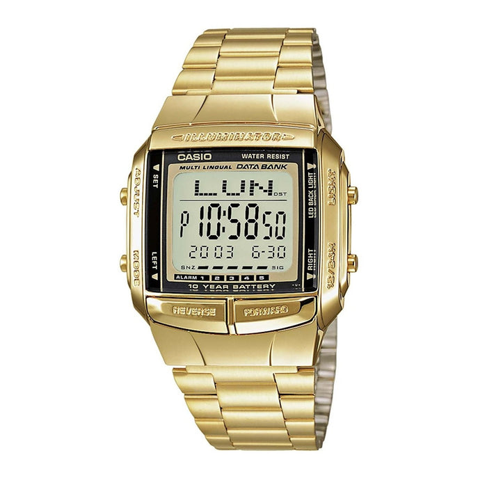 Casio Men's DB-360G-9A Digital Gold-Tone Stainless Steel Watch