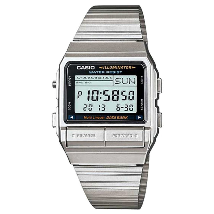 Casio Men's DB-380-1DF Classic Digital Stainless Steel Watch