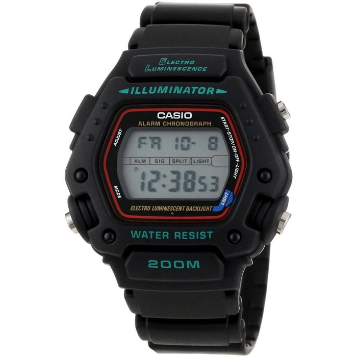 Casio Men's DW-290-1V Classic Digital Black Rubber Watch