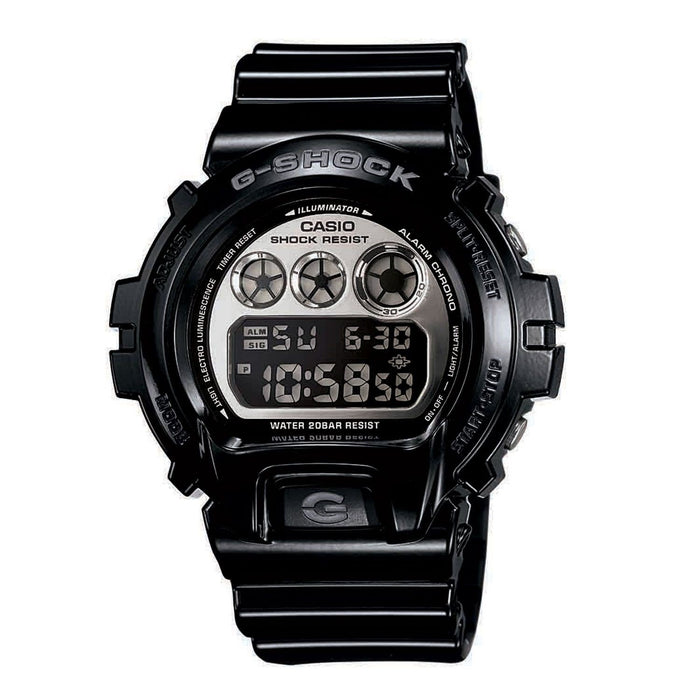 Casio Men's DW6900NB-1 G-Shock Metallic Digital Black Resin Watch