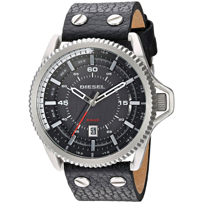 Diesel Men's DZ1790 Rollcage Black Leather Watch