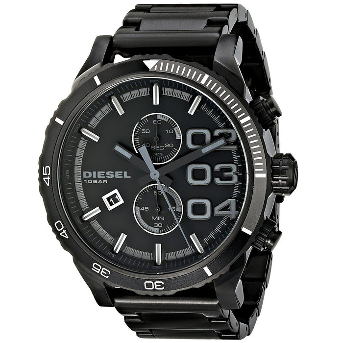 Diesel Men's DZ4326 Double Down Chronograph Black Stainless Steel Watch