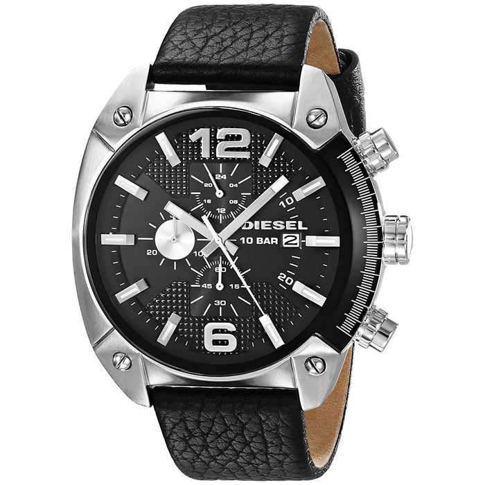 Diesel Men's DZ4341 Overflow Chronograph Black Leather Watch