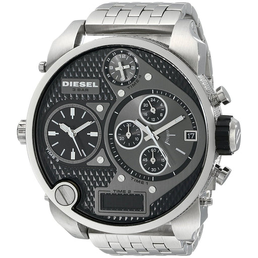 Diesel Men's DZ7221 Mr. Daddy Chronograph 4 Time Zones Stainless Steel Watch