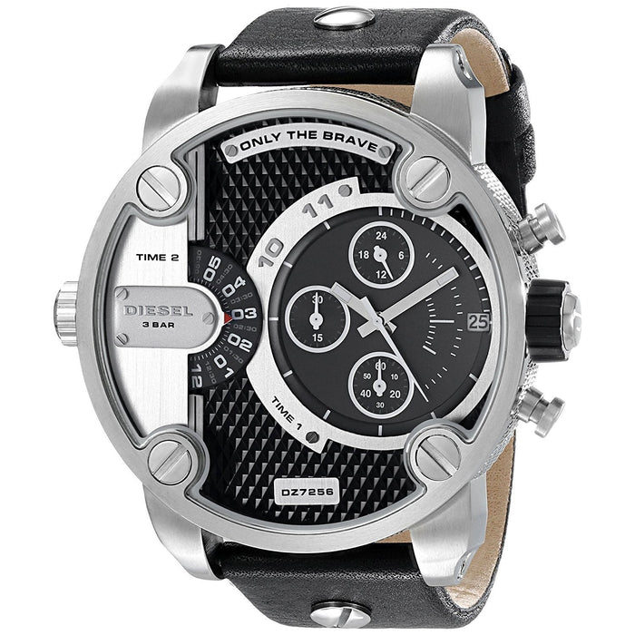 Diesel Men's DZ7256 The Daddies Chronograph Black Leather Watch