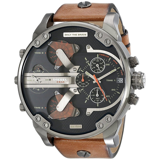 Diesel Men's DZ7332 Mr Daddy 2.0 Chronograph Brown Leather Watch