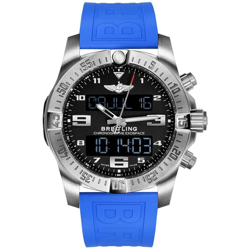 Breitling Men's EB5510H1-BE79-235S Exospace  Blue Rubber Watch