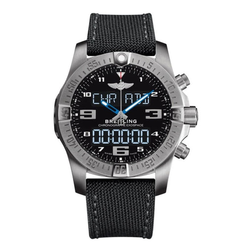 Breitling Men's EB5510H2-BE79-100W Exospace  Grey Canvas Watch