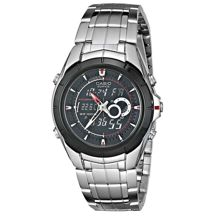 Casio Men's EFA-119BK-1AV Ana-Digi Edifice Analog-Digital Stainless Steel Watch