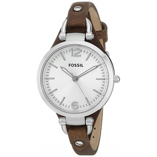 Fossil Women's ES3060 Georgia Brown Leather Watch