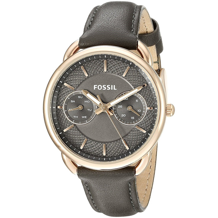Fossil Women's ES3913 Tailor Multi-Function Grey Leather Watch