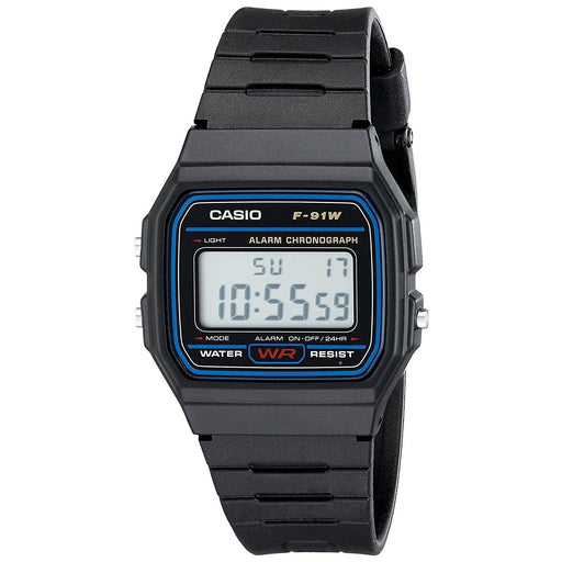 Casio Men's F91W-1 Classic Digital Black Resin Watch