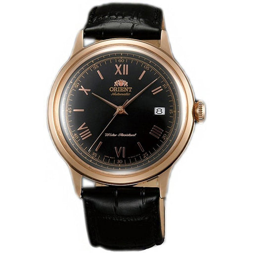 Orient Men's FAC00006B0 Bambino 2nd Generation Automatic Black Leather Watch