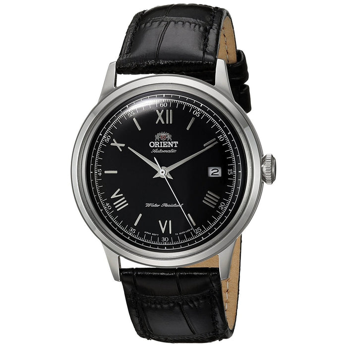 Orient Men's FAC0000AB0 Bambino 2nd Generation Automatic Black Leather Watch