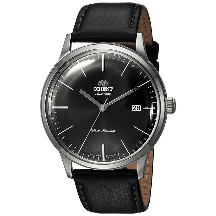 Orient Men's FAC0000DB0 Bambino 2nd Generation Automatic Black Leather Watch