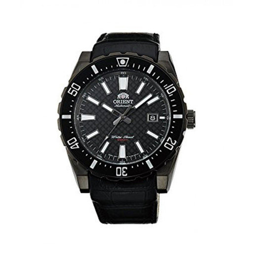 Orient Men's FAC09001B0 Nami Automatic Black Leather Watch