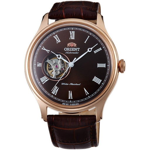 Orient Men's FAG00001T0 Esteem II Open Heart Automatic Brown Leather Watch