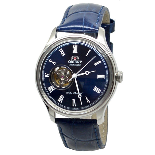 Orient Men's FAG00004D0 Esteem II Open Heart Automatic Blue Leather Watch