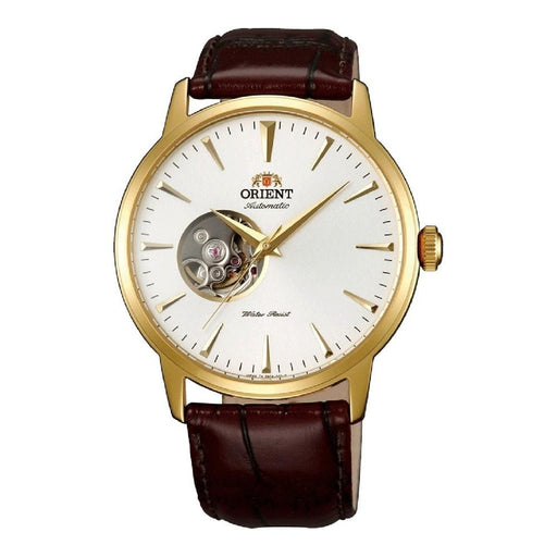 Orient Men's FAG02003W0 Esteem II Open Heart Automatic Brown Leather Watch