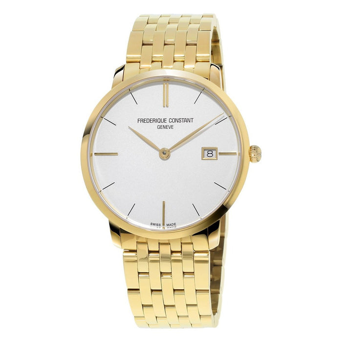 Frederique Constant Women's FC-220V5S5B Slimline Gold-Tone Stainless Steel Watch