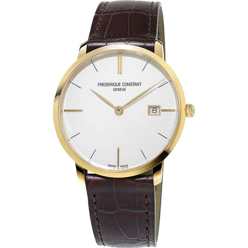 Frederique Constant Men's FC-220V5S5 Slimline Brown Leather Watch
