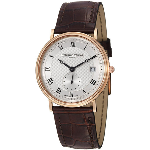 Frederique Constant Men's FC-245M4S9 Slimline Brown Leather Watch