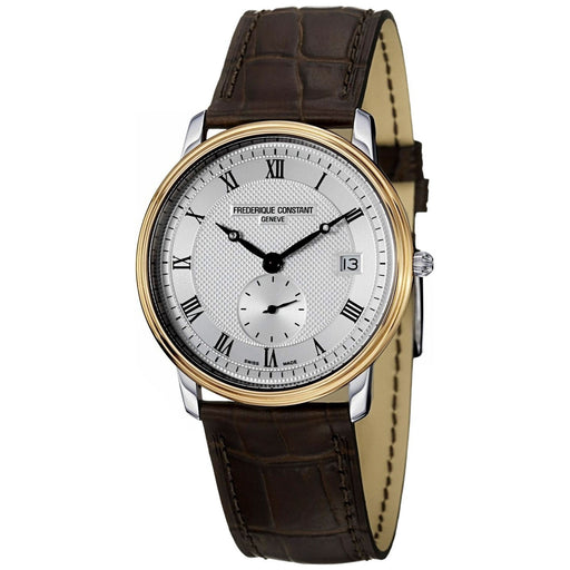 Frederique Constant Men's FC-245M4SZ7 Slimline Brown Leather Watch