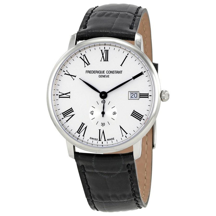 Frederique Constant Men's FC-245WR5S6 Slimline Black Leather Watch