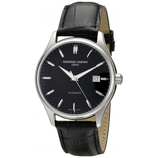 Frederique Constant Men's FC-303B5B6 Classic Black Leather Watch