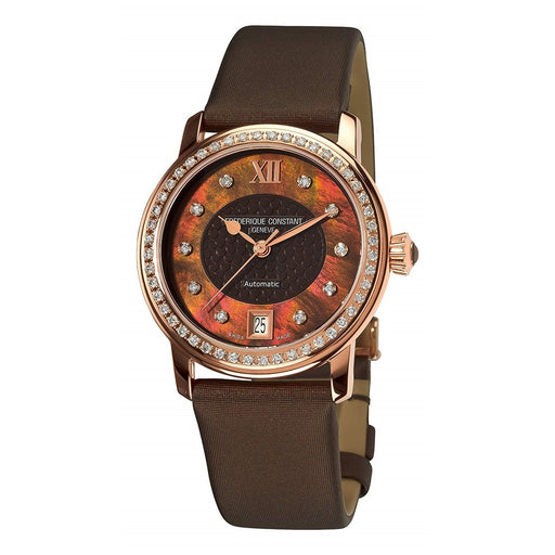 Frederique Constant Women's FC-303CHD2PD4 Classic Diamond Brown Satin Watch