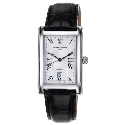 Frederique Constant Men's FC-303MC4C26 Carree Black Leather Watch