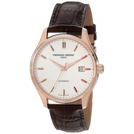 Frederique Constant Men's FC-303V5B4 Classic Brown Leather Watch