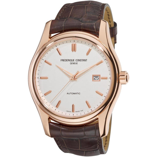 Frederique Constant Men's FC-303V6B4 Clear Vision Brown Leather Watch