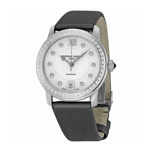 Frederique Constant Women's FC-303WHD2PD6 Slimline Diamond Grey Satin Watch