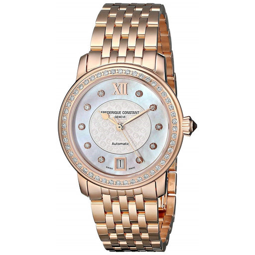 Frederique Constant Women's FC-303WHF2PD4B3 World Heart Federation Diamond Rose-Tone Stainless Steel Watch