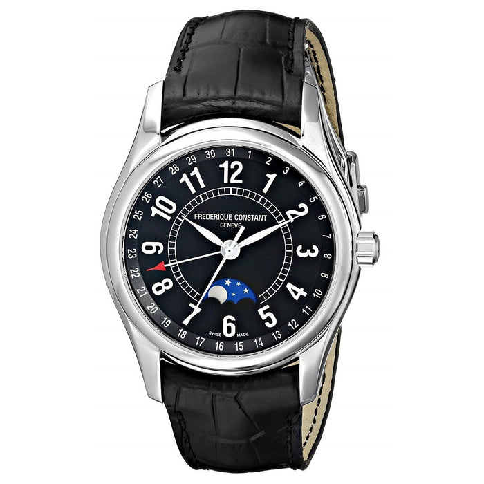 Frederique Constant Men's FC-330B6B6 Index Black Leather Watch