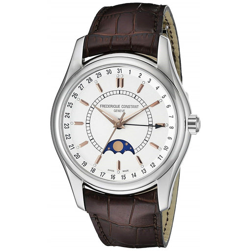 Frederique Constant Men's FC-330V6B6 Index Brown Leather Watch
