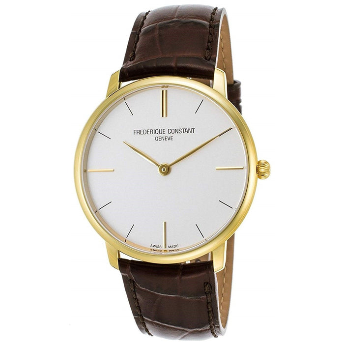 Frederique Constant Men's FC200V5S35 Slimline Brown Leather Watch