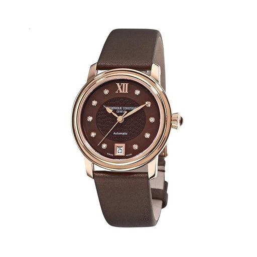 Frederique Constant Women's FC303CHD2P4 Classic Diamond Brown Satin Watch