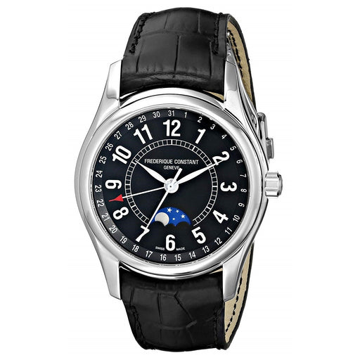 Frederique Constant Men's FC330B6B6 Index Black Leather Watch