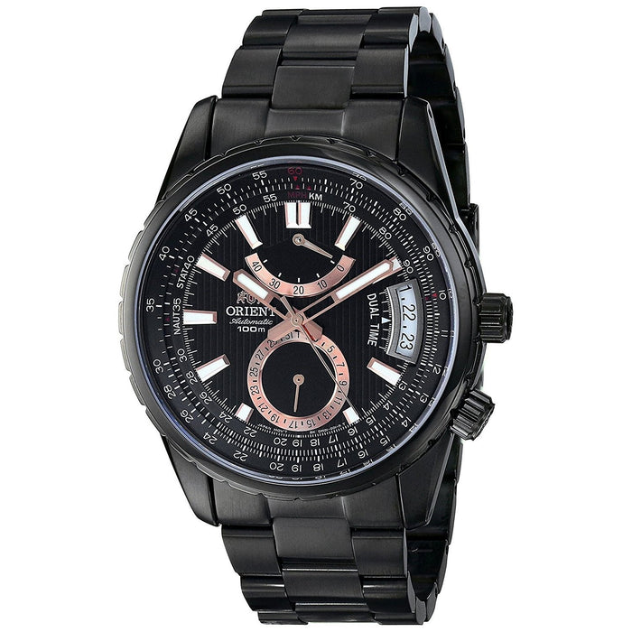 Orient Men's FDH01001B0 Voyager Automatic Black Stainless Steel Watch