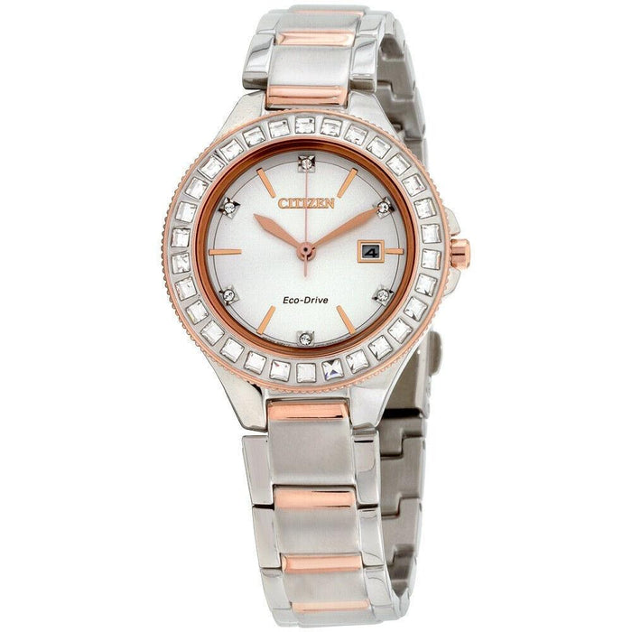 Citizen Women's FE1196-57A Silhouette Crystal Two-Tone Stainless Steel Watch