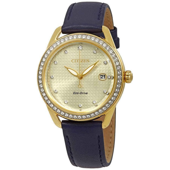 Citizen Women's FE6112-09P LTR Blue Leather Watch