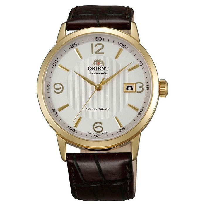 Orient Men's FER27004W0 Symphony Automatic Brown Leather Watch