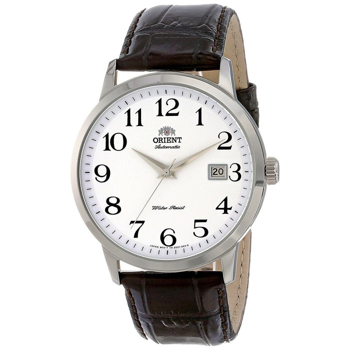 Orient Men's FER27008W0 Symphony Automatic Brown Leather Watch