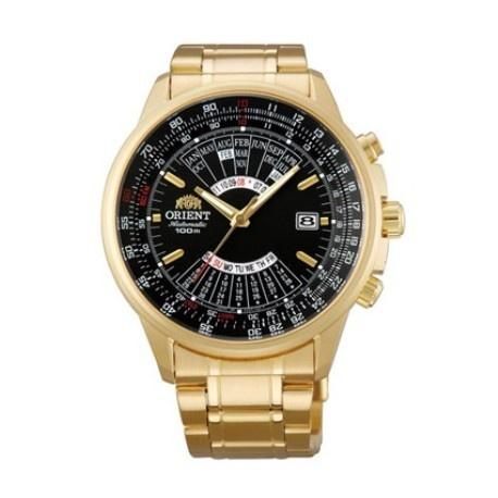 Orient Men's FEU07001BX Perpetual Calendar Gold-Tone Stainless Steel Watch