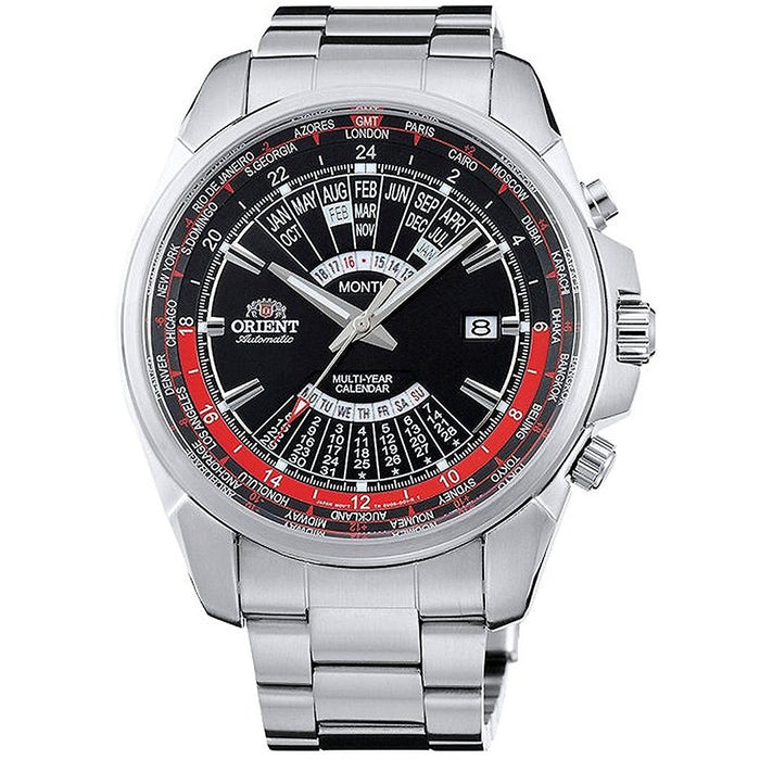 Orient Men's FEU0B001BH Multi-Year World Time Automatic Stainless Steel Watch